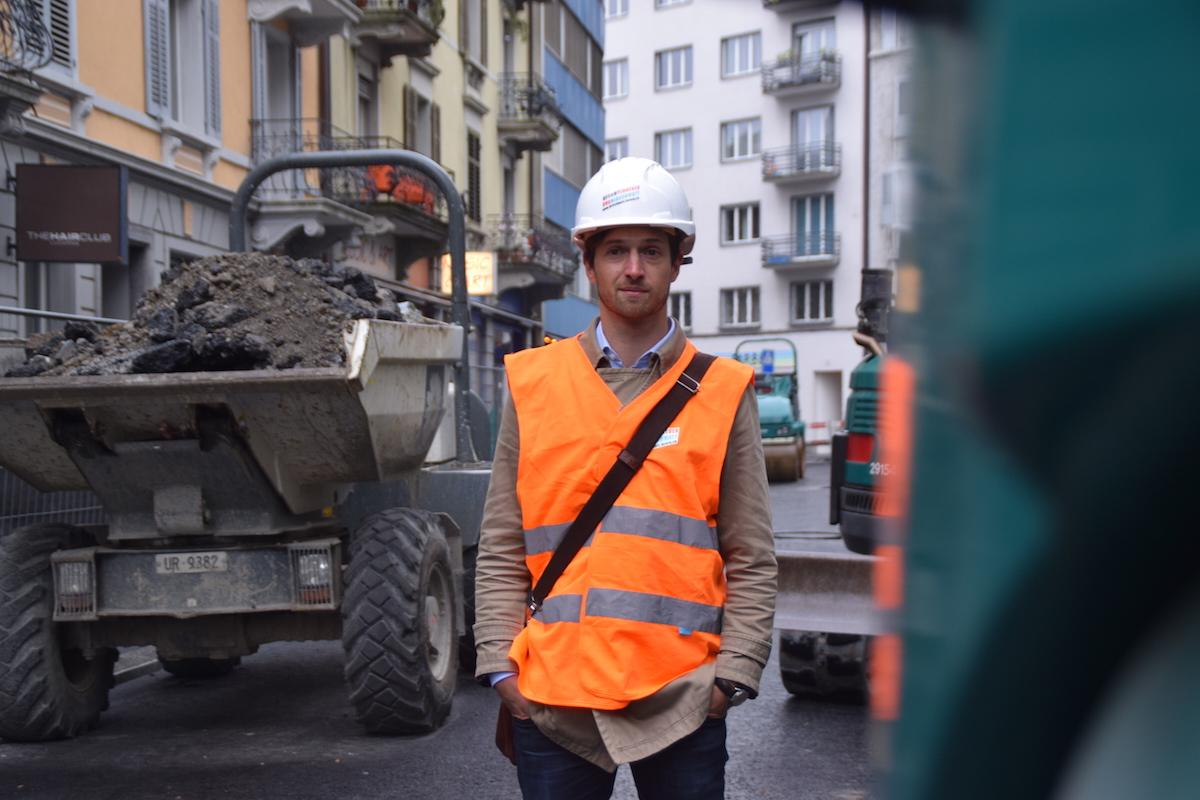 Oberbauleiter Roger Schürmann ist seitens der Stadt für das Projekt verantwortlich (Bild: lwo).