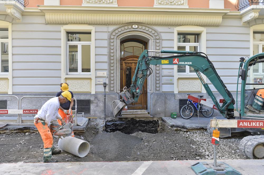 Impressionen von der Gesamtsanierung Hirschmatt (Bild: Stadt Luzern).