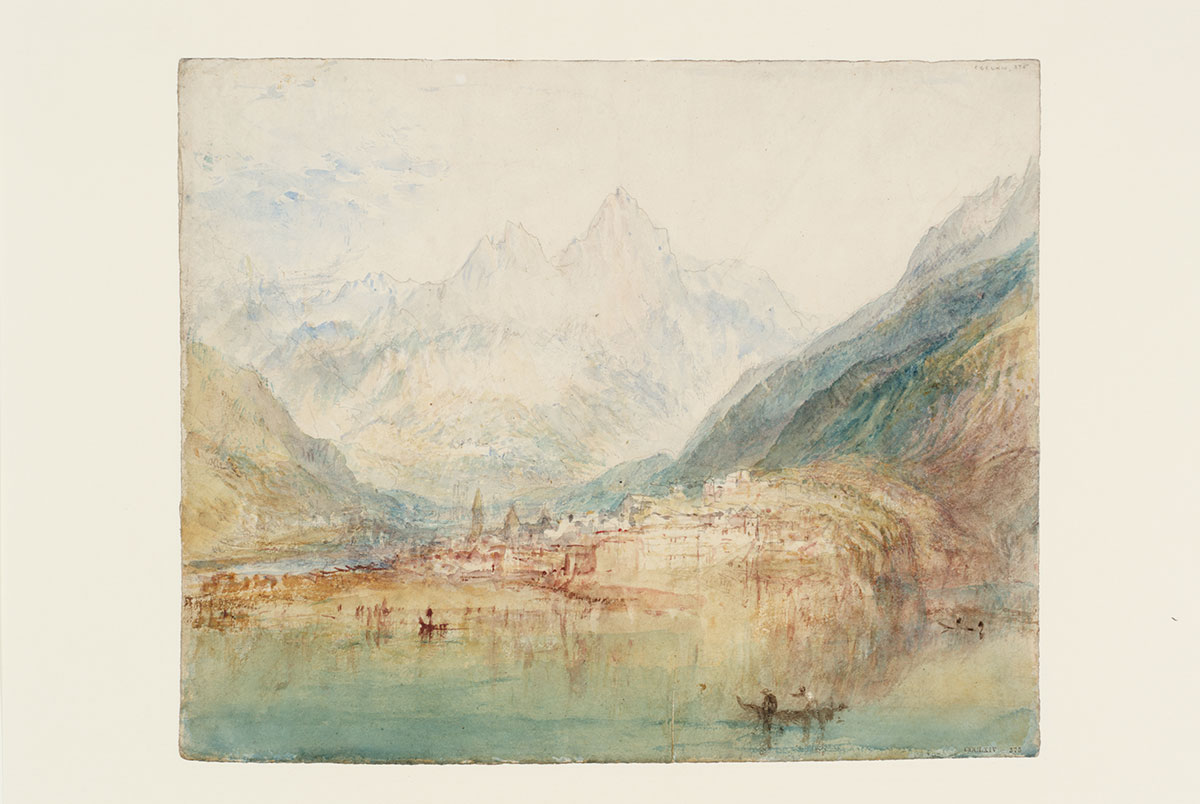 «Brunnen from the Lake of Lucerne: Sample Study», 1843-35 Graphit, Aquarell und Gouache auf Papier. Fotografie © Tate, London, 2016