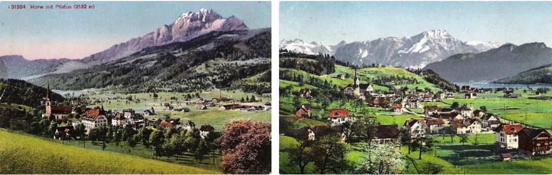So sah Horw um etwa 1930 aus (Bild: zVg).