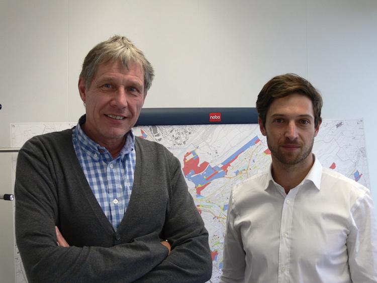 Die beiden Herren hinter dem Projekt: Reinhard Hofmann (links) und Roger Schürmann vom Tiefbauamt der Stadt Luzern.