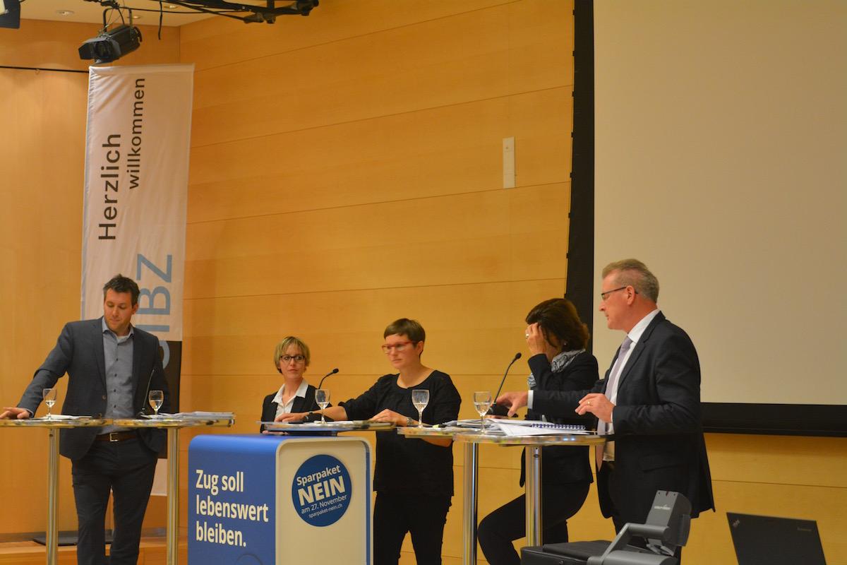 Podiumsgespräch zum Sparpaket im GIBZ.