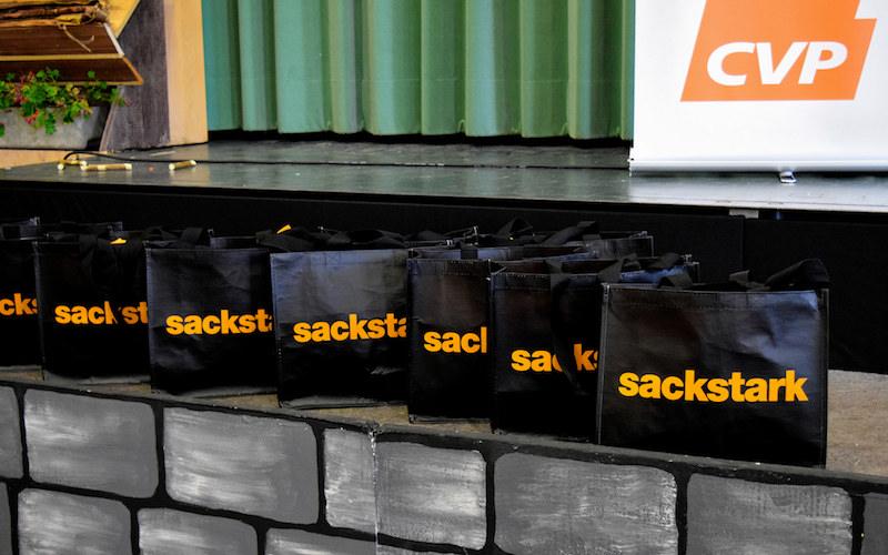 Die CVP machte im Wahljahr 2015 mit der «sackstark»-Kampagne auf sich aufmerksam.