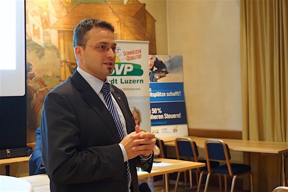 Der Kandidat der SVP: Thomas Schärli wird am 27. November zu den Stadtratswahlen antreten. (Bild: jal)