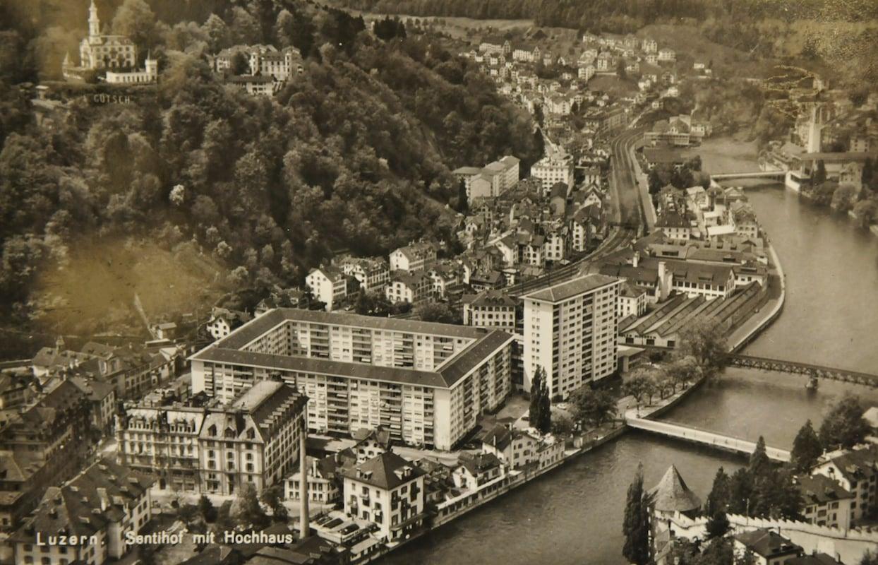 Ein Blick auf das damalige Quartier rund um die Baselstrasse. (Bild: zvg. Delf Bucher)