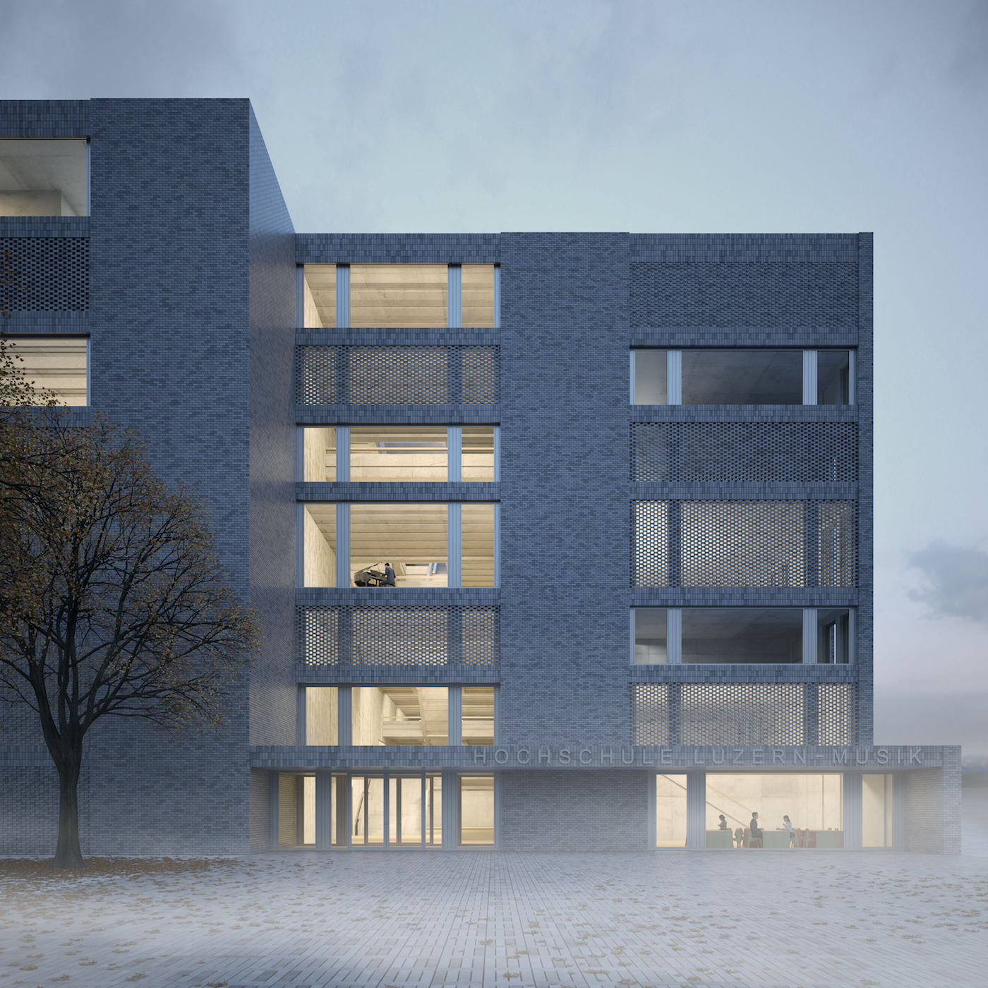 Ein Haus, das laut Architektenteam die Würde der Musik reflektieren soll.