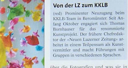 Die Information im Anzeiger Michelsamt vom 20. Oktober 2016.