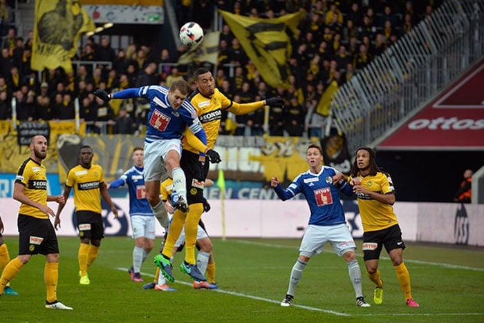 Impression vom Spiel FCL gegen die Berner Young Boys (Bild: Dominik Stegemann).