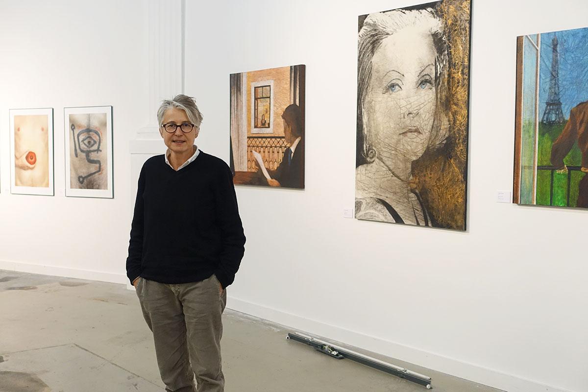 Christina Niederer, Mitbegründerin von Pink Panorama, in der kommenden Ausstellung in der Kunsthalle. (Bild: jwy)