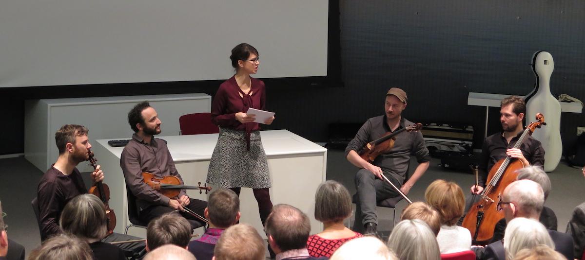 Die Musiker im Gespräch mit Annelis Berger