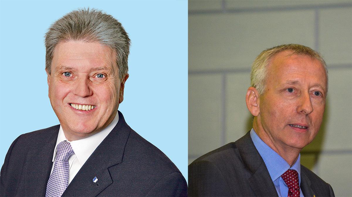 SVP-Kantonsrat Guido Müller (links) und CVP-Kantonsrat Franz Wüest. (Bilder: zvg)