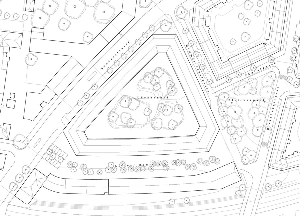 Und dasselbe noch auf dem Plan: Visualisierung des Siegerprojekts Larix. (Bild: zvg)
