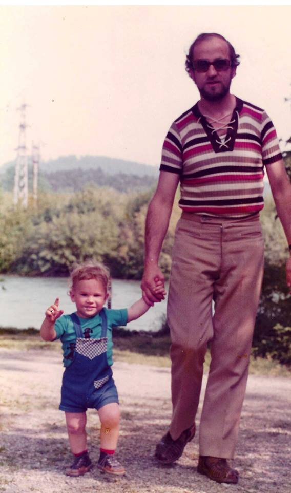 Dominik Riedo mit seinem Vater Otto. (Bild: zvg)