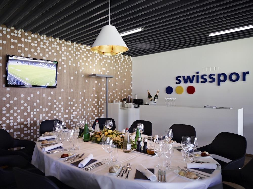 Eine der Logen im VIP-Bereich der Swissporarena.