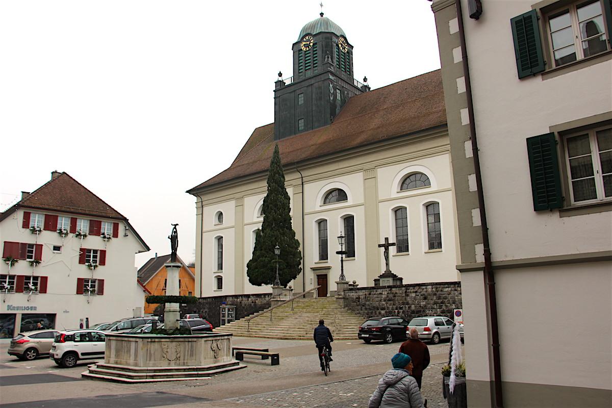 Die Pfarrkirche Willisau: In der Barockkirche fand der getestete Gottesdienst am 1. Adventssonntag statt.