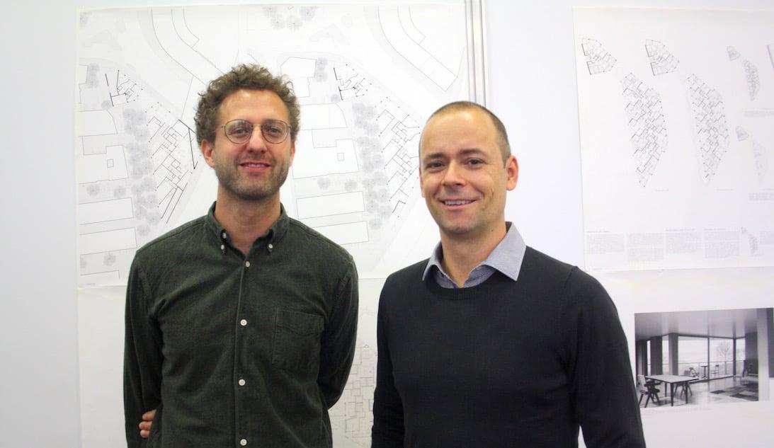 Gabriel Gmür (rechts) und Michael Geschwentner von der Arbeitsgemeinschaft ARGE Steib & Geschwentner und tolbergmür Architekten.