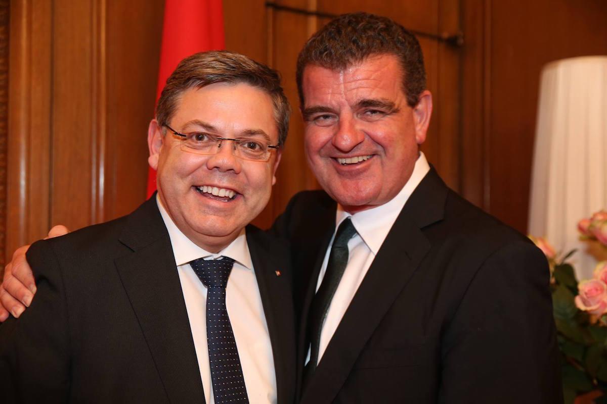 Zwei SVP-Unternehmer: Franz Grüter und Peter Spuhler.