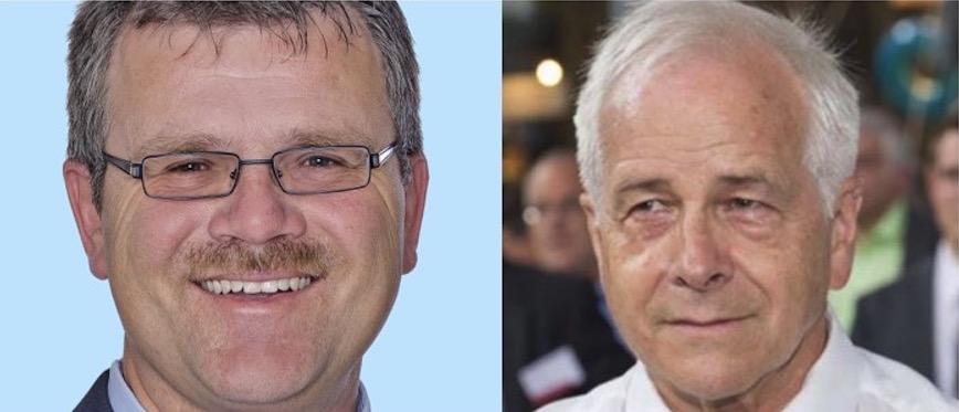 Halten die Stanser Variante der Neatzufahrt nach wie vor für eine gute Idee: Patrick Meier (links), ehemaliger CVP-Kantonsrat, und Paul Stopper, Verkehrsplaner.