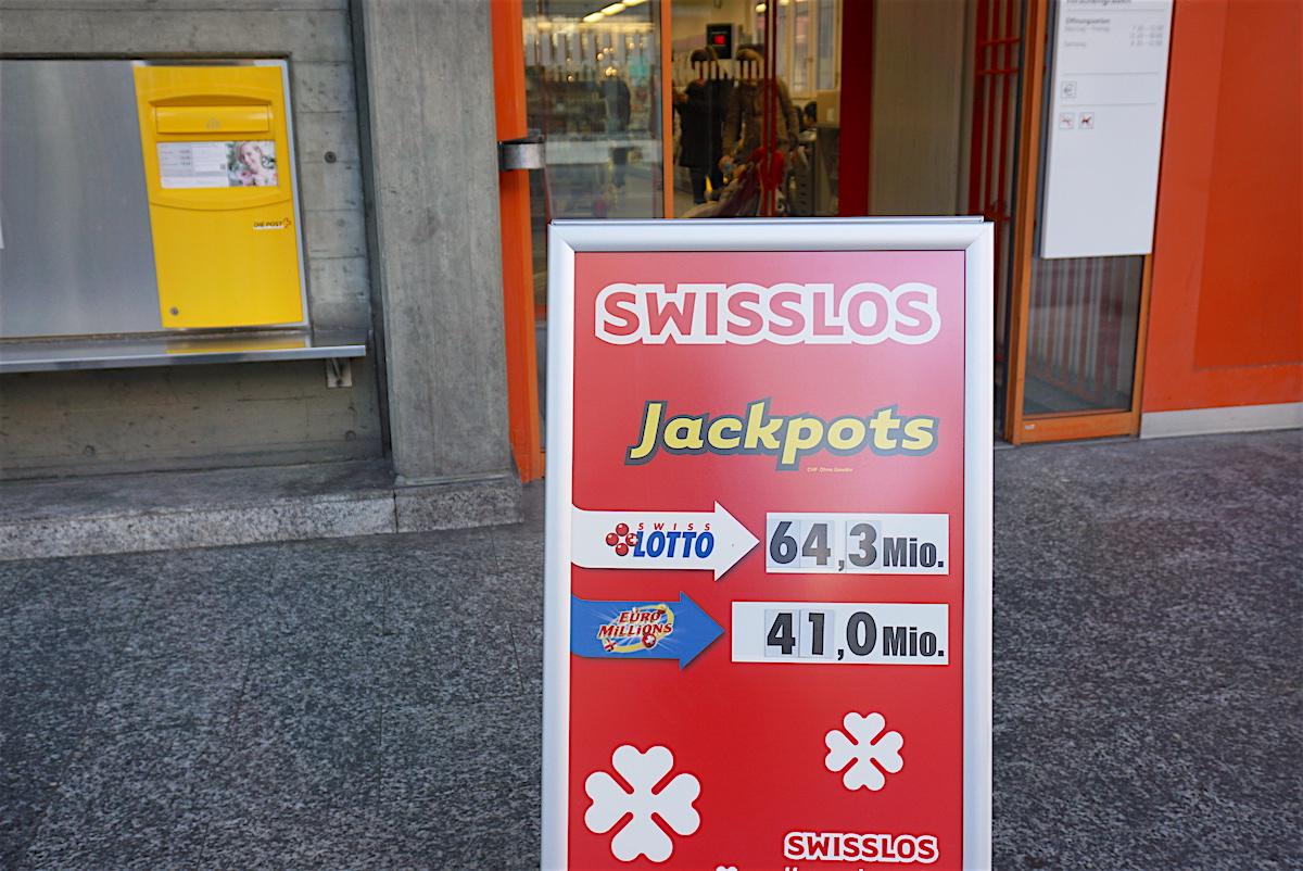 Rekordjackpot: Diesen Mittwoch gibt es im Schweizer Lotto 64,3 Millionen Franken zu gewinnen.