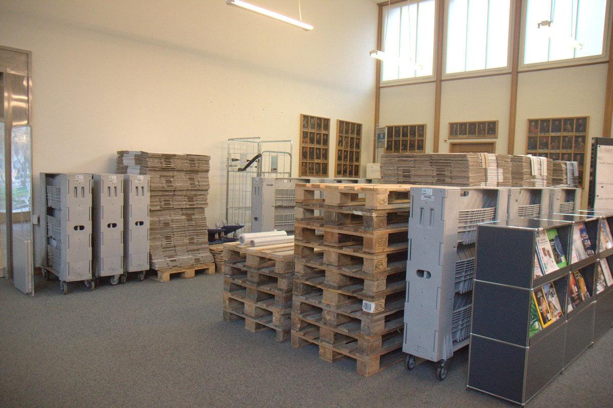 An der Sempacherstrasse werden die Koffer gepackt, weil im Februar 2017 die Sanierung der ZHB beginnen soll.