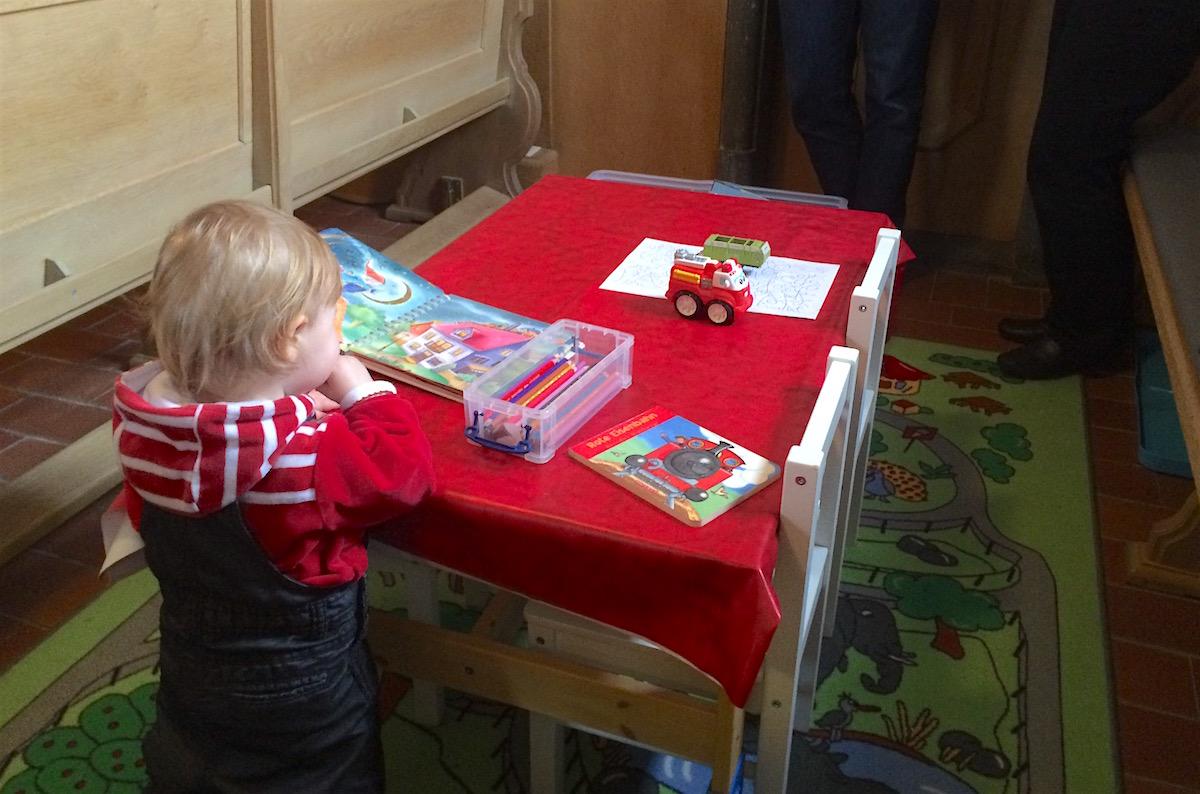 Auch eine Spielecke für die Kleinsten ist in Cham vorhanden.