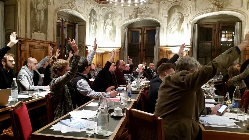 Hier bodigen SP, Grüne und GLP im Luzerner Stadtparlament gerade das Projekt Parkhaus Musegg.