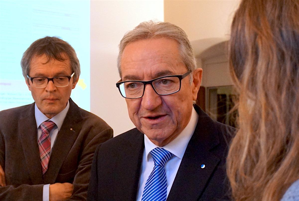 Regierungsrat Robert Küng (FDP) betonte anlässlich der Präsentation des Agglomerationsprogramms die Dringlichkeit des Durchgangsbahnhofs.