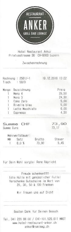 Die Rechnung.
