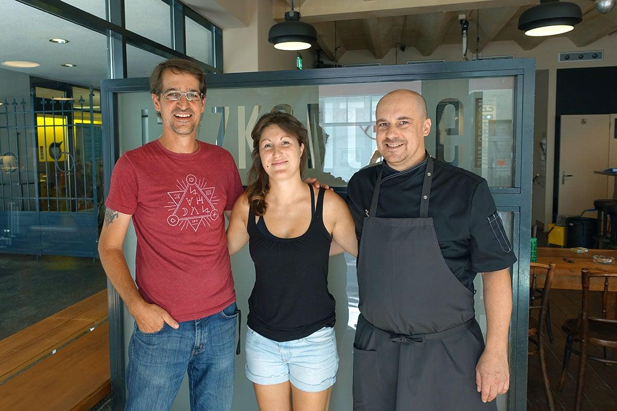 Das neue «Jazzkantine»-Team: Domi Meyer (links), Rahel Heller und Christian Hupe.