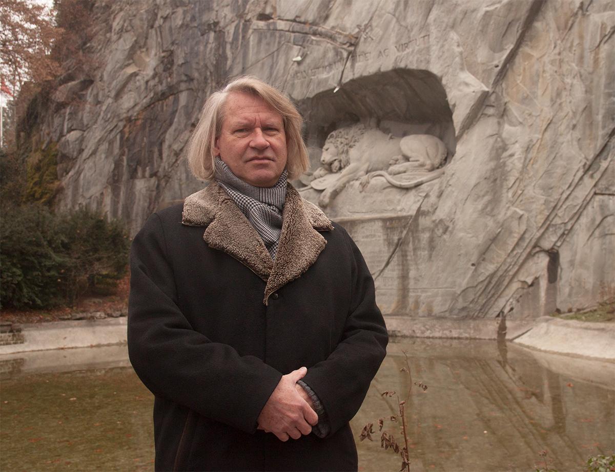 Das Löwendenkmal wird Peter Fischer für viele Jahre beschäftigen.