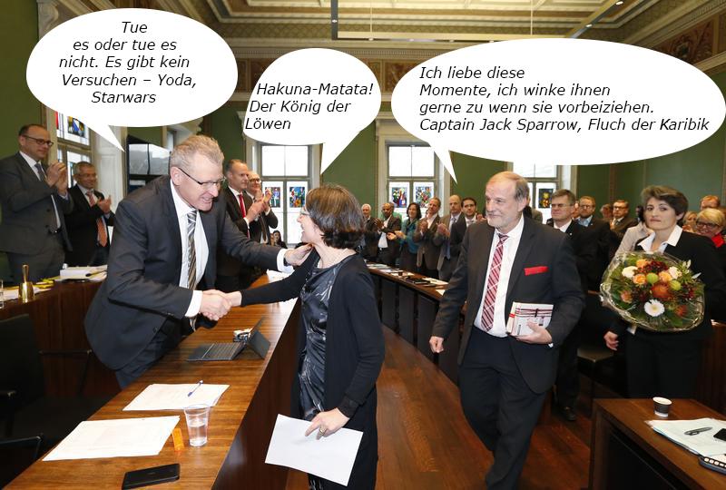 Nur noch Filmzitate: Die Gesprächskultur im Zuger Kantonsparlament bekäme einen völlig neuen Drall.