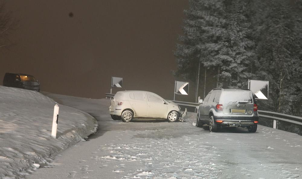 In Schenkon kollidierten zwei Fahrzeuge.