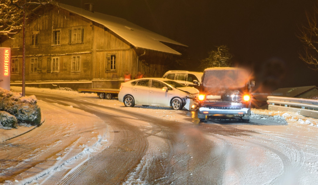 In Udligenswil kam es zu einer heftigen Kollision.