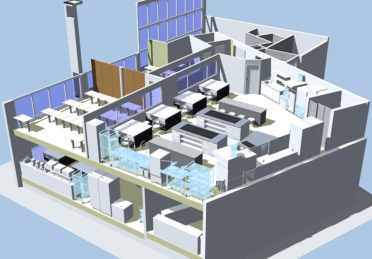 So präsentieren sich die neuen Räumlichkeiten im Limelight-Gebäude.