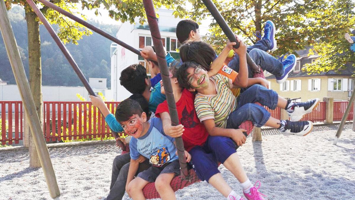 Spiel und Spass geben Flüchtlingskindern ein wenig Struktur und Freiraum zugleich. (Bild: Pfasyl/zvg.)