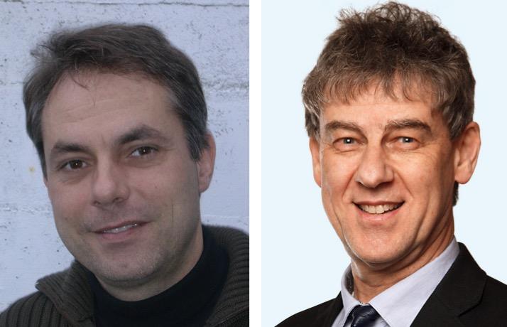 Die beiden Architekten Patrick Bisang (links) und Markus Mächler.