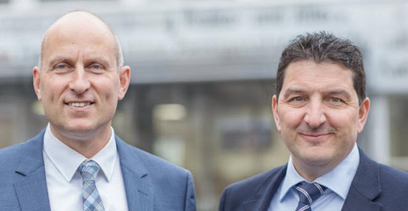 Das Führungsduo des Gewerbeverbands: Direktor Gaudenz Zemp (links) und Präsident Roland Vonarburg.