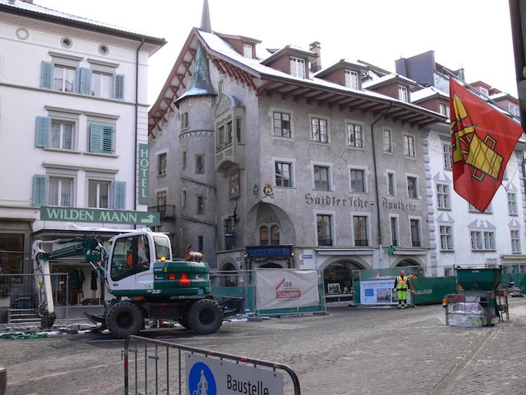 Das Gebäude an der Bahnhofstrasse 21 in der Luzerner Kleinstadt. Das Quartier wird zurzeit umfassend saniert.