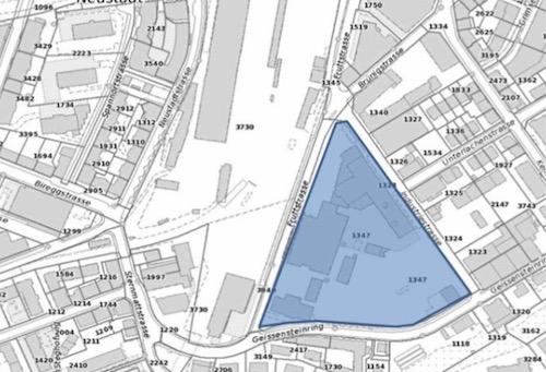 Das EWL-Areal: Das Dreieck zwischen Geissensteinring, Industrie- und Fruttstrasse.