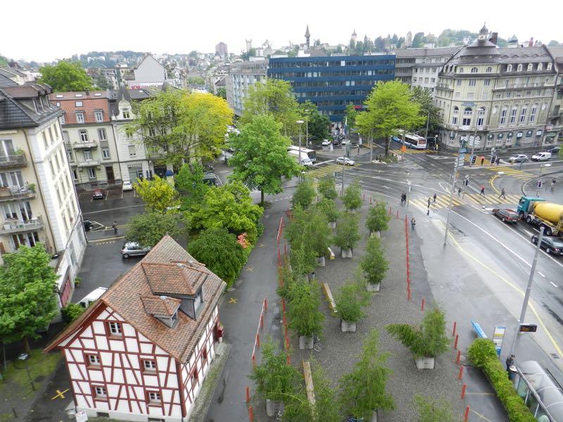 Hier am Pilatusplatz soll ein 35-Meter-Hochhaus entstehen.