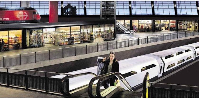 So soll der favorisierte Tiefbahnhof im Innern aussehen.