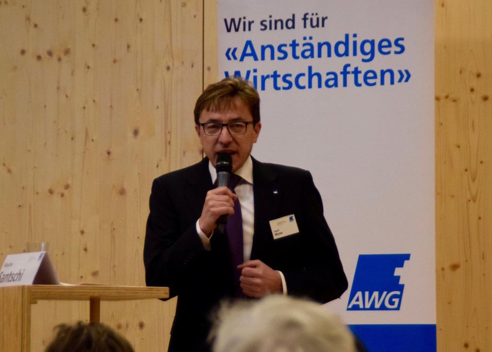 AWG-Präsident Josef Wyss richtete einige Worte an die Besucher.