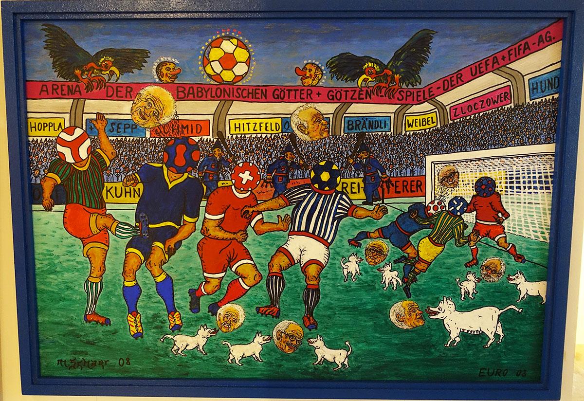 Die Köpfe rollen auf diesem Bild von Max Schaer, etwa jender von Ex-Fifa-Boss Sepp Blatter.