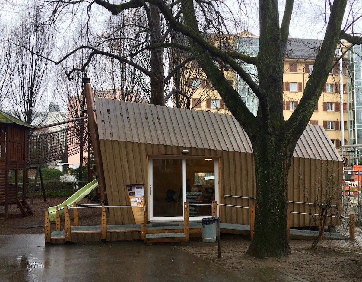 Der Pavillon im Bleichergärtli: Hier findet jeden Mittwochmorgen der «Digi-Treff» statt.