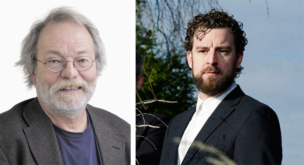 Hämi Hämmerli, Leiter des Instituts Jazz und Volksmusik der Hochschule Luzern – Musik (links); Arno Troxler, Leiter des Jazz Festival Willisau.