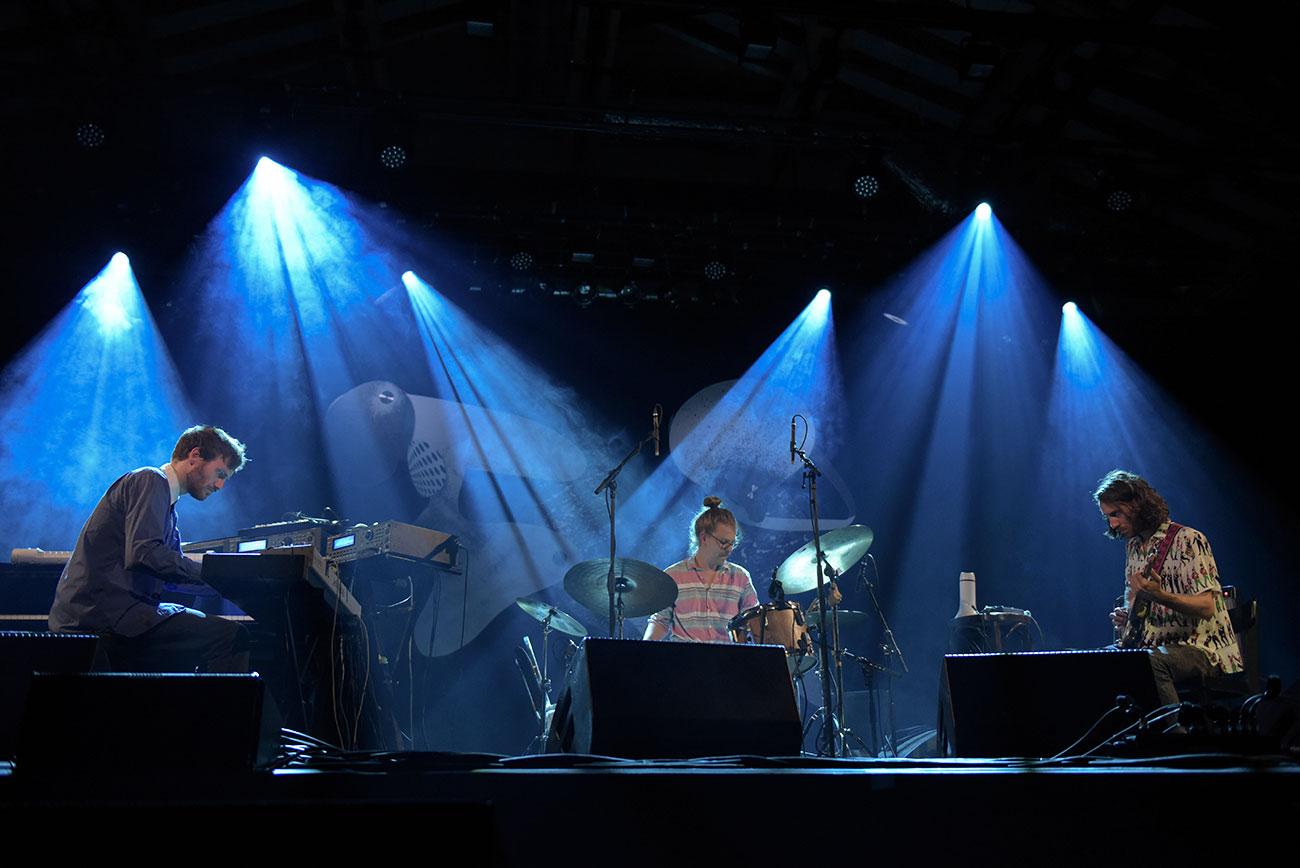 Junger Schweizer Jazz in Willisau 2016: das Trio Heinz Herbert bei einem Auftritt.