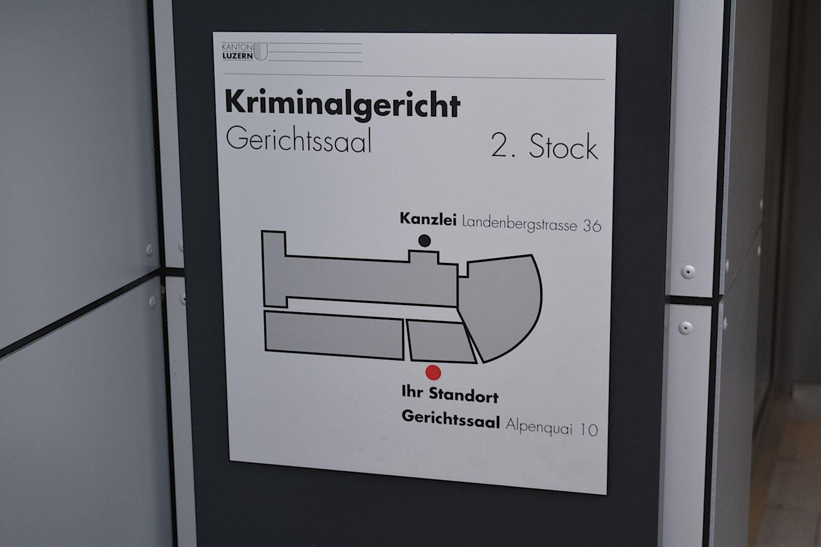 Am Kriminalgericht Luzern fand heute der IT-Prozess statt.
