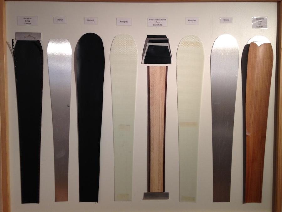 Einige der Materialien, die zusammen einen Ski ergeben. (Bild: zentralplus/bas)
