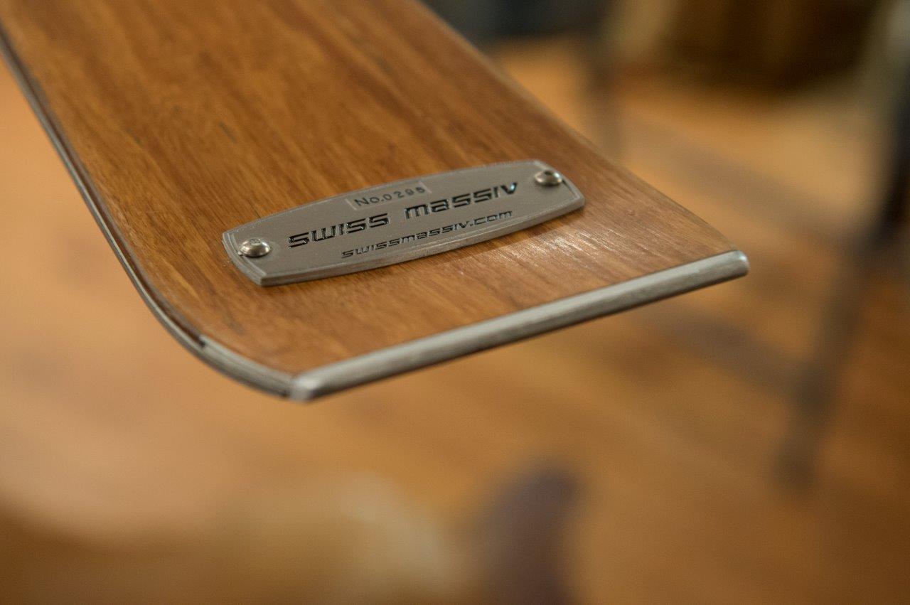 Einen Ski aus Holz wollte René Unternährer – der Weg dahin war lang. (Bild: zvg)