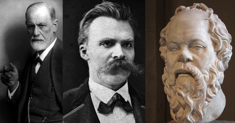 Mit Sigmund Freud, Friedrich Nietzsche und Sokrates ist Fachsimpeln ein Heidenspass.